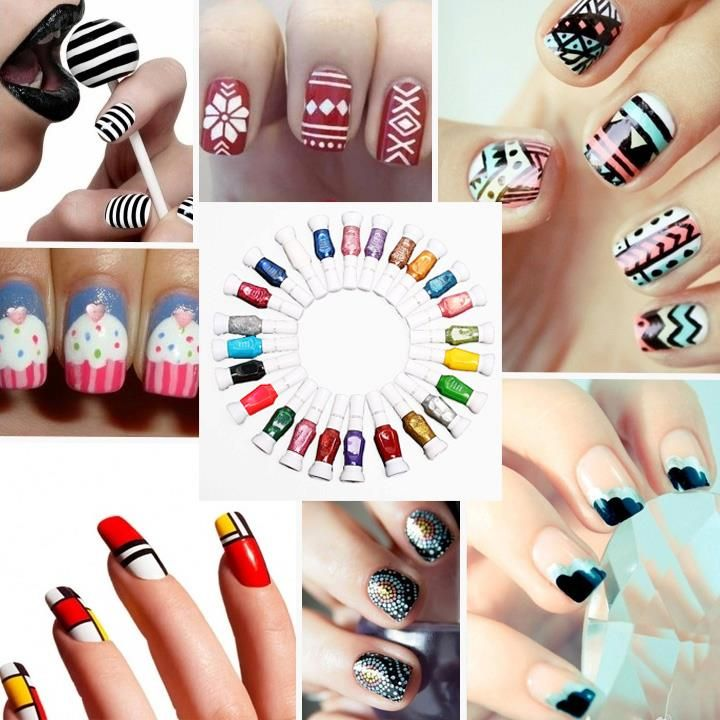 How To Decorate Your Nails With Diffe Designs Nail Art Tutorials Click On The