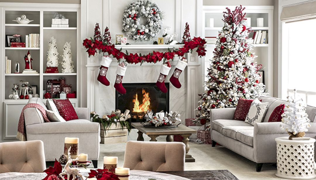 Inspiring 25 Best And Beautiful Holiday Living Room Decoration Christmas Decorations Living Room Christmas Decorations For The Home Christmas Fireplace Decor