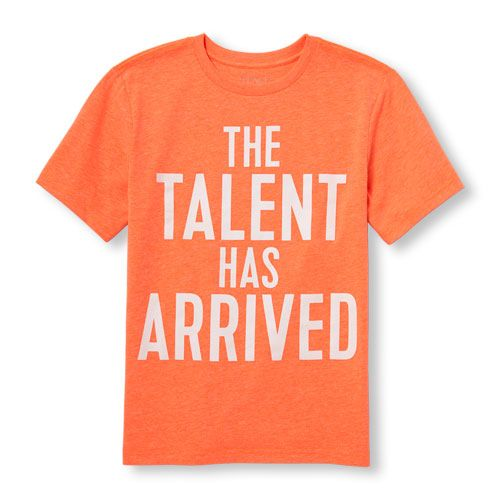 66d839670c41 s Boys Short Sleeve 'The Talent Has Arrived' Neon Graphic Tee ...
