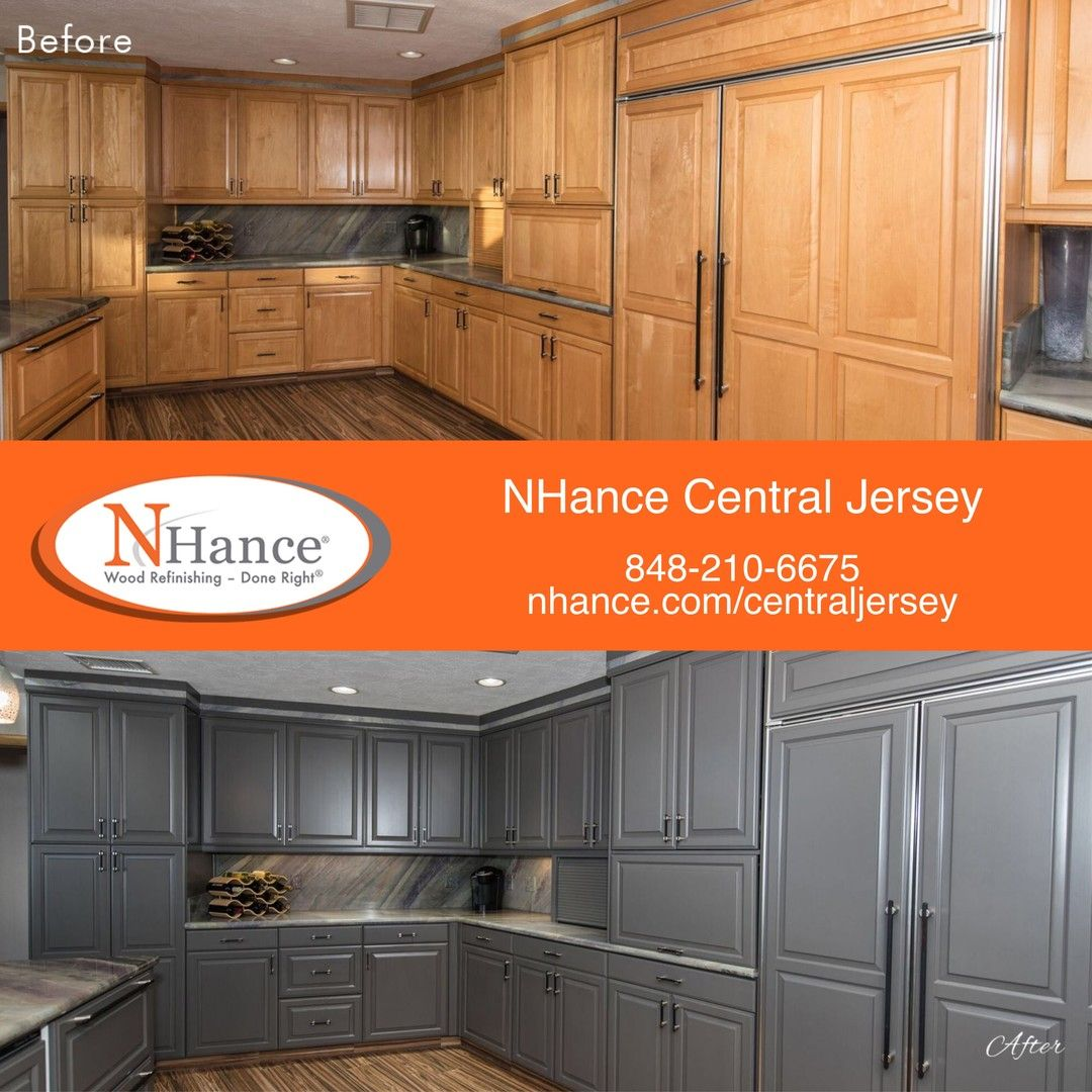 Updating Your Cabinets With The N Hance Wood Refinishing Process Saves You Money Compared To Replacing Yo Wood Refinishing Refinishing Cabinets Updated Kitchen