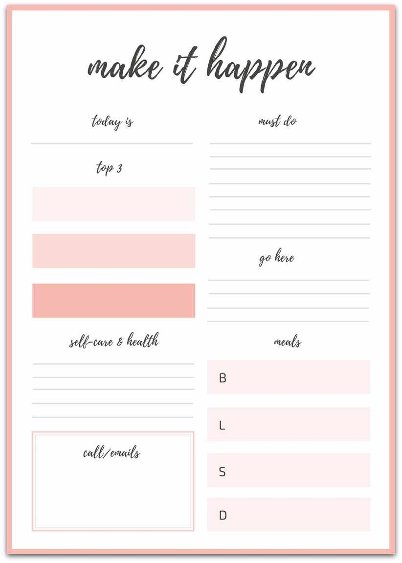 Make Your Goals Happen - Free Daily Planner & Breakfast Ideas #breakfastideas