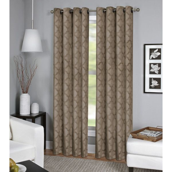 Parma Geometric Grommet Curtain Elrene Home Fashions