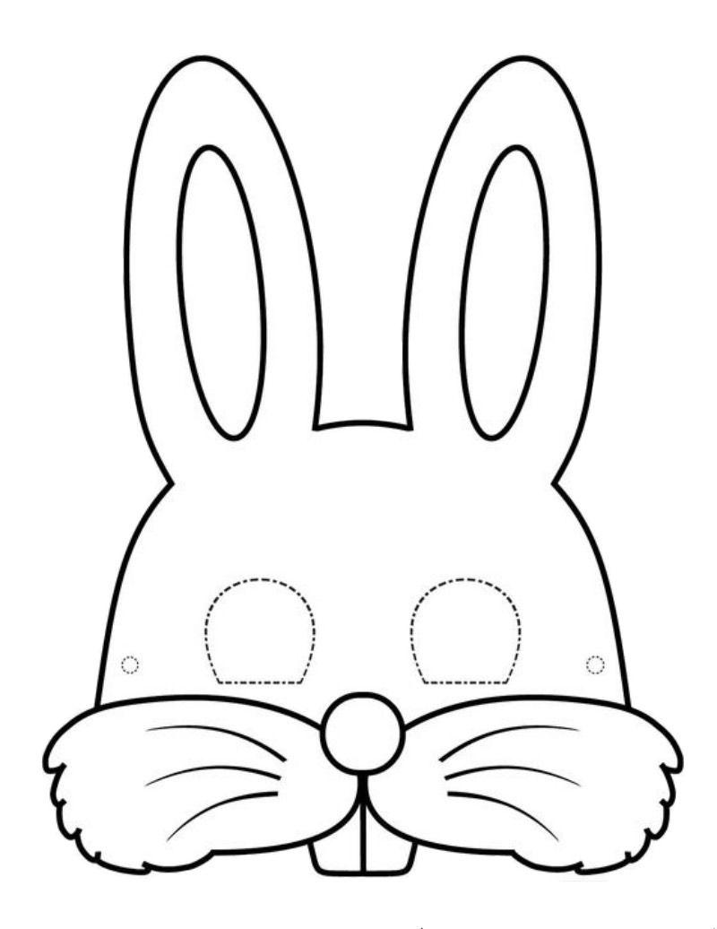 Maski Karnawalowe Kroliczki Karnawal Maski Karnawalowe Swiatowy Dzien Zwierzat Wycinanki Bunny Mask Bunny Templates Masks Crafts