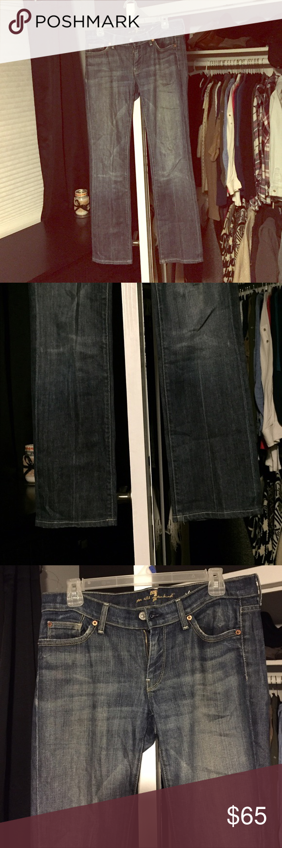 7 For All Mankind Jeans 7 for all Mankind Jeans | straight leg | dark wash | size 30 | will accept reasonable offers! | will also sell cheaper on Merc@ri | only worn twice | amazing condition | they need a new home! 7 For All Mankind Jeans Straight Leg