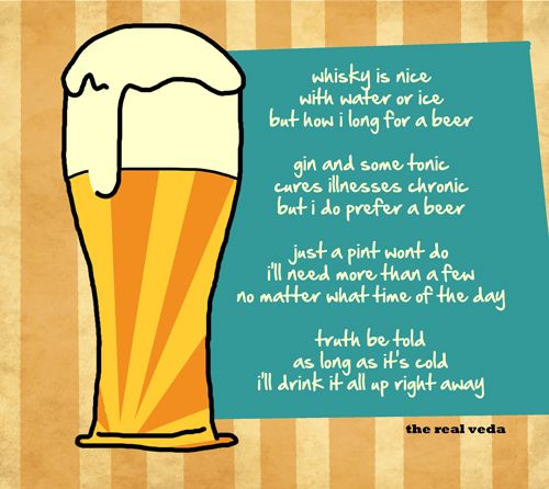 a glass of beer poem analysis