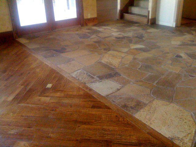 Flagstone floor tile