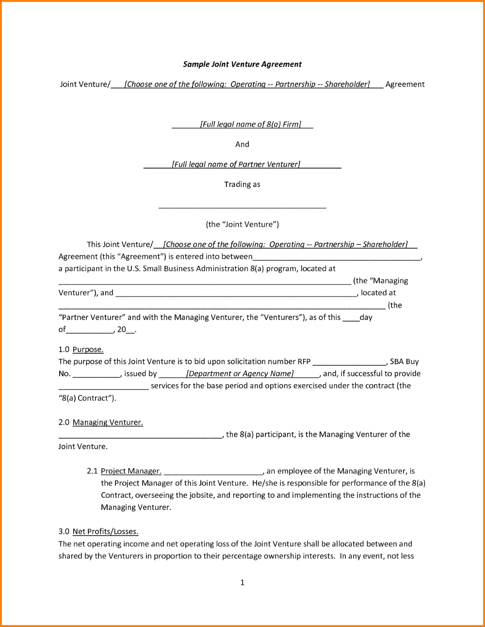 Exclusivity agreement template this exclusivity agreement template can be used by a vendor to secure exclusive rights to provide goods or … View 34 Business Simple Joint Venture Agreement Template