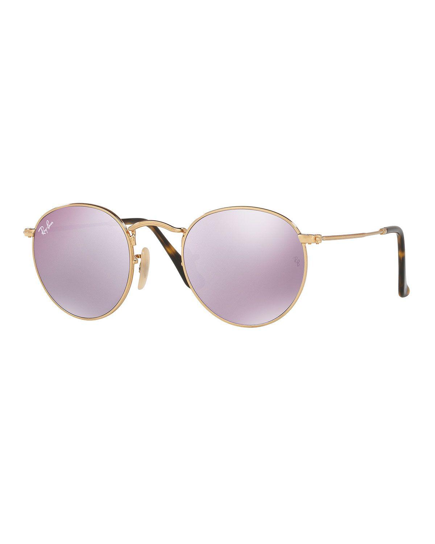 88e2313aa90 Mirrored Round Flash Sunglasses