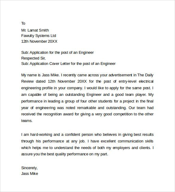 sample application cover letter templates free documents word - sample internship report template