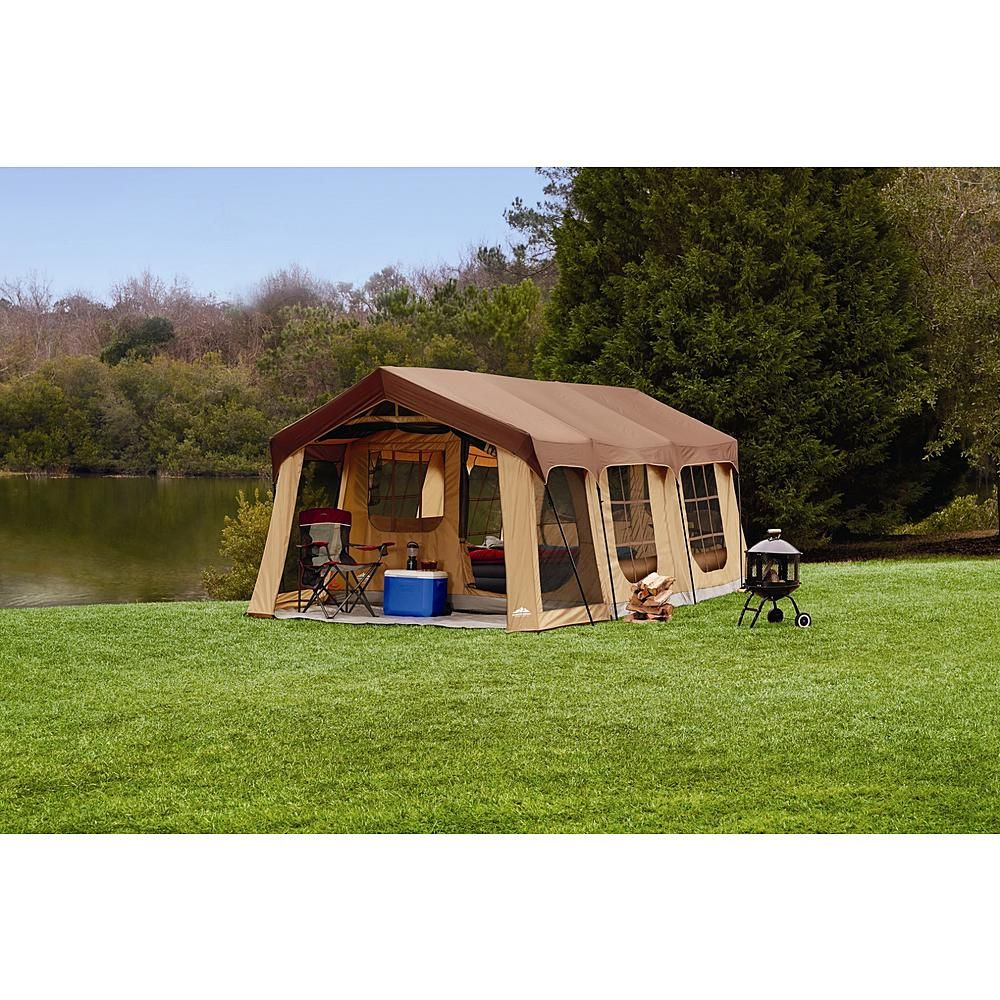 This large 10 person tent has a spacious cabin. A comfortable design and huge screened-in front porch to take in the outdoors bug free the Northwest ...  sc 1 st  Pinterest & Northwest Territory Front Porch Cabin Tent 10 Person - Fitness ...