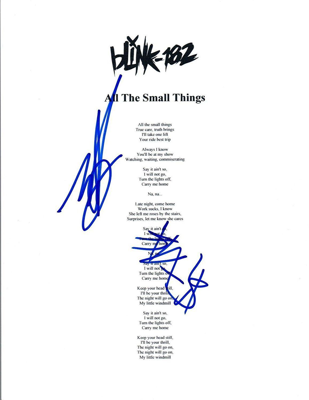 BLINK 182 Signed Autograph \