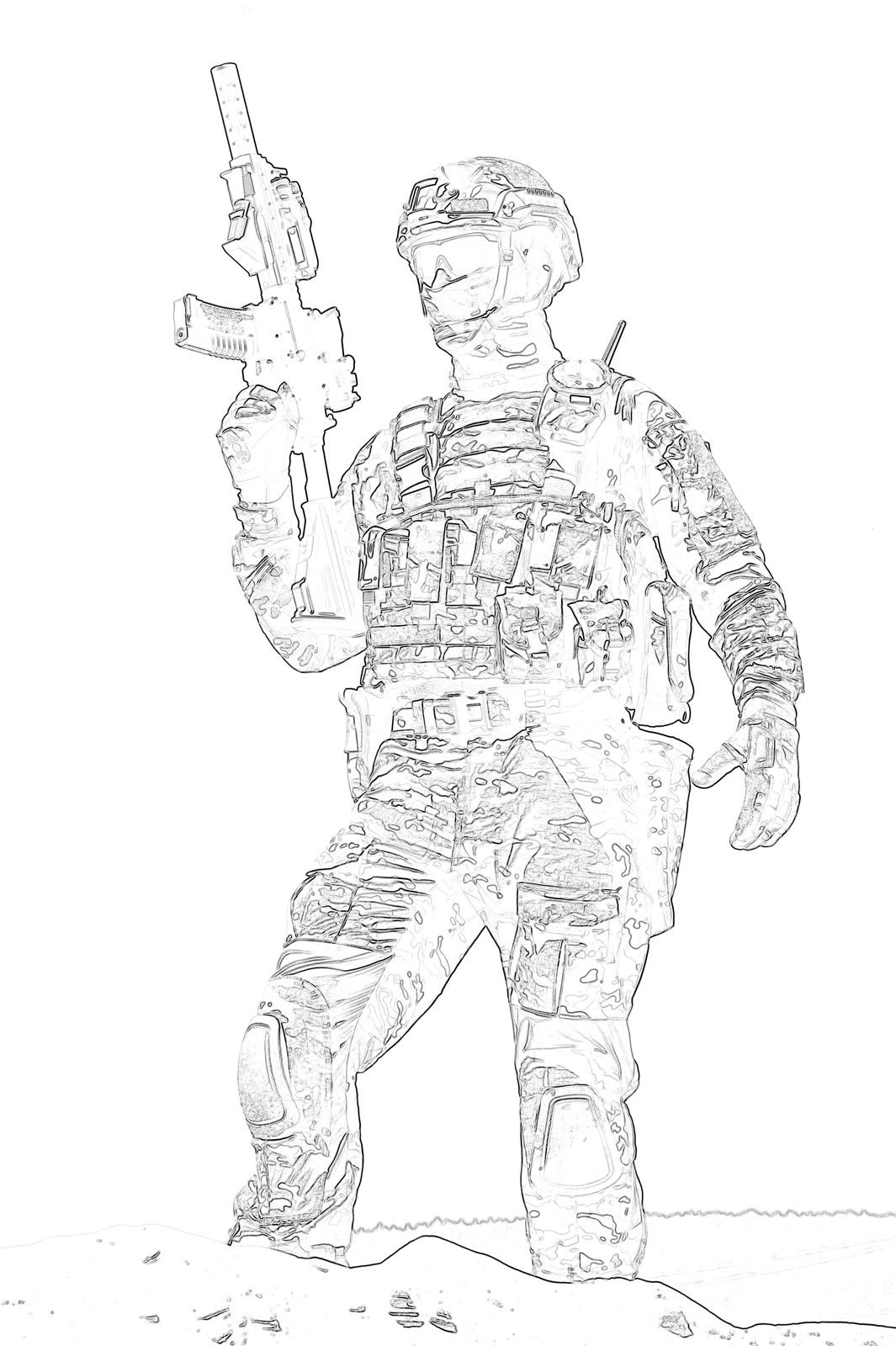 Pin On Army Military Coloring Books