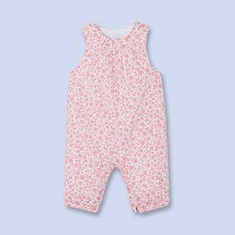 Combinaison en tissu Liberty ROSE BLANC Fille - Vêtement Bébé - Jacadi Paris 51483ba6db1