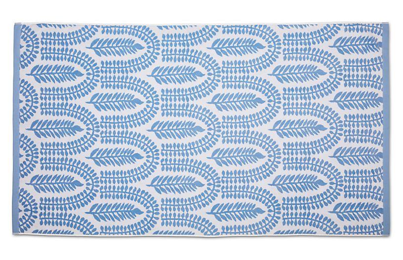 Delilah Beach Towel Powder Blue Beach Towel Blue Outdoor Blanket