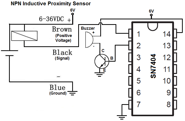 npn inductive proximity sensor circuit  sensor circuit