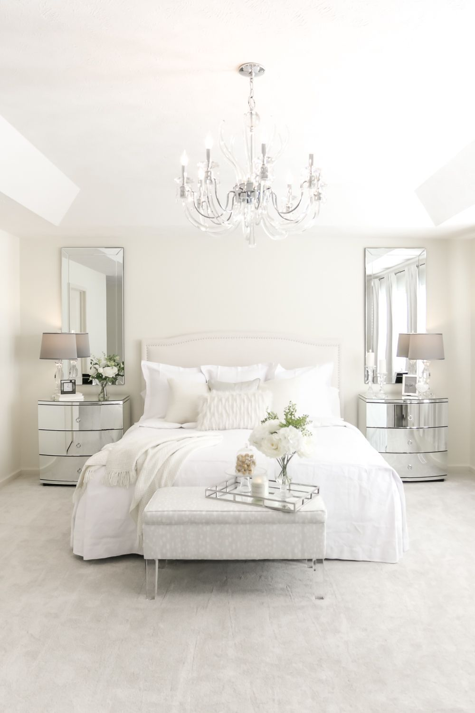 Glam Master Bedroom White Bedroom Decor White Bedroom Set Small White Bedrooms White luxury room pictures