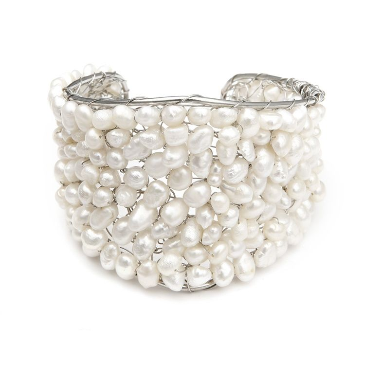 This Exotic Freshwater Pearl Bridal Cuff Bracelet Featuring Hand Wired Genuine Pearls Is One Of Our Best Ing Beach Wedding Bracelets