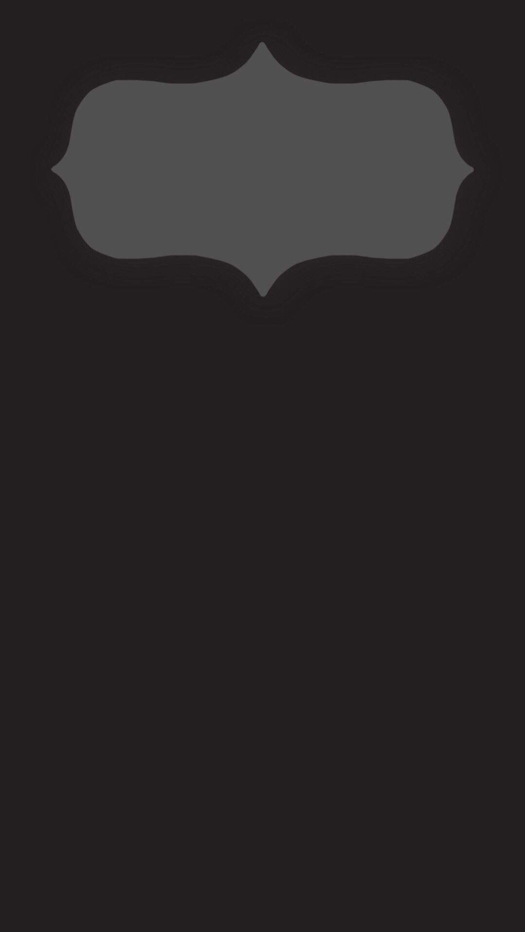 iPhone 6 Plus lock screen wallpaper. Minimal dark gray