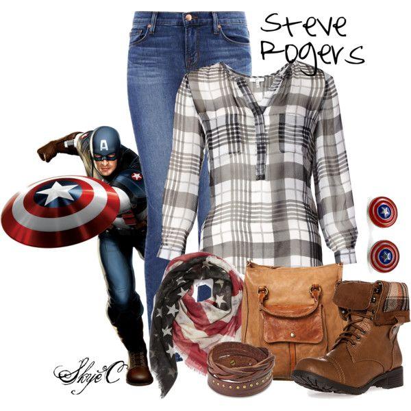 """Steve Rogers - Captain America - Marvel"" by rubytyra on Polyvore"