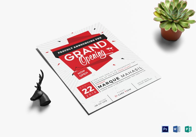 Grand Opening Flyer  Design Flyer Templates    Grand