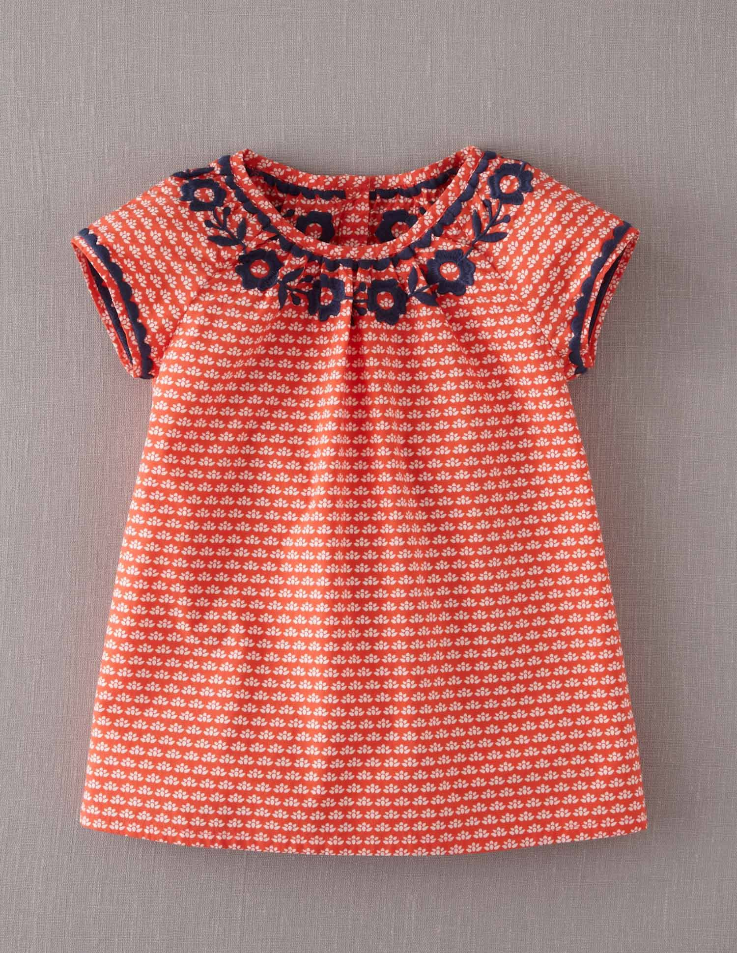 Mini Boden Girl s Brand New Embroidered Gypsy Top Coral Pink Floral