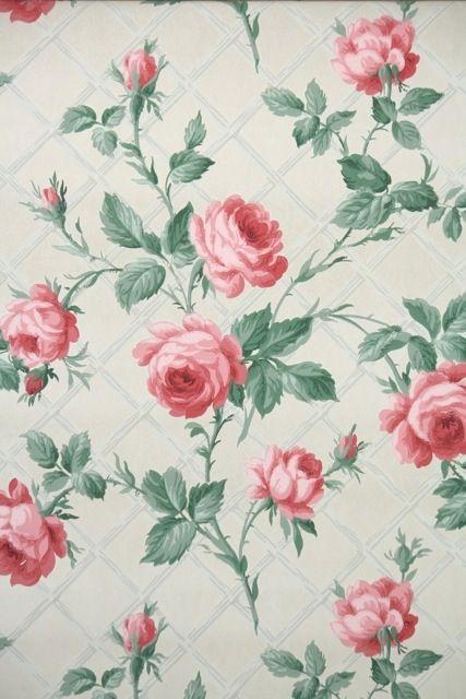 Vintage Wallpaper Pink Roses More