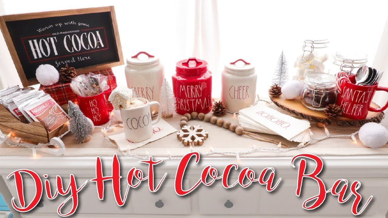 DIY Hot Chocolate Bar! #hotchocolatebar