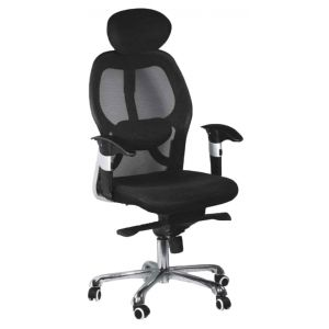 ergonomic mesh chair from emperor diy bows premium with head rest mebelkart chairs