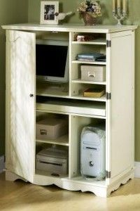 french country standard computer armoire