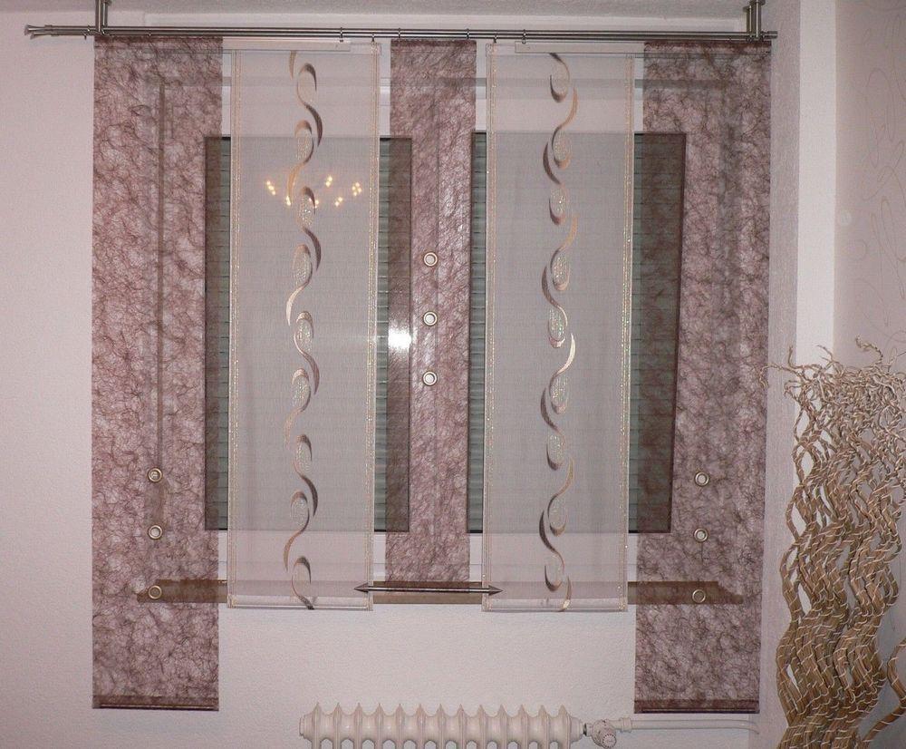 Wunderschönes Gardinen-Set In Der Farbe Braun. Die Fertige