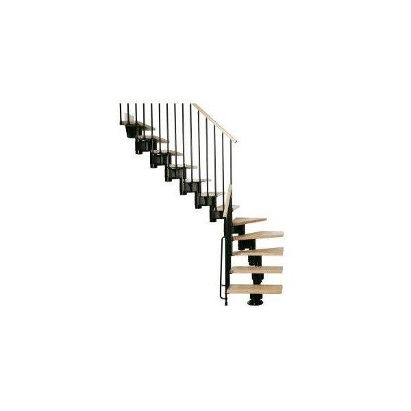 Best Kompact Modular Staircase L Kit 35 In Black K35023 At 400 x 300