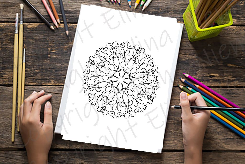 Coloring pages for adults - Printable flower mandala ...