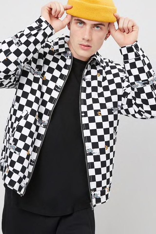 4a32fdc0e Tom & Jerry Graphic Checkered Jacket in 2019 | Styling at Forever21 ...