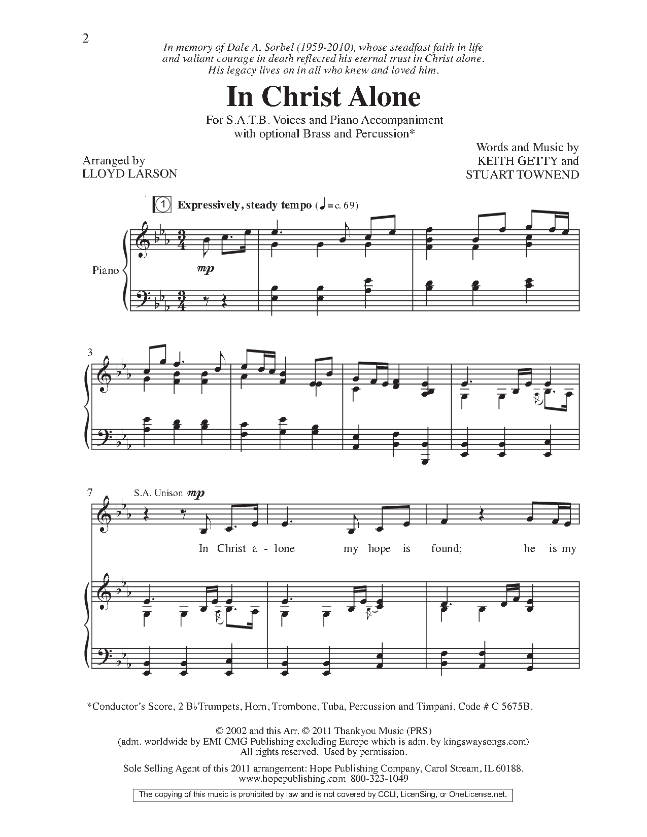 In Christ Alone (SATB ) by Keith Getty & Stu | J.W. Pepper Sheet Music | In christ alone. Choir music. Choral sheet music