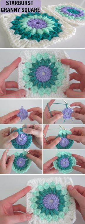 Great Pics starburst Granny Squares Concepts Crochet Granny Squares perform up quickly, nonetheless weaving in all of the concludes takes time. T #Concepts #Granny #Great #Pics #Squares #starburst #Mandalas einfacher Haken #grannysquareponcho