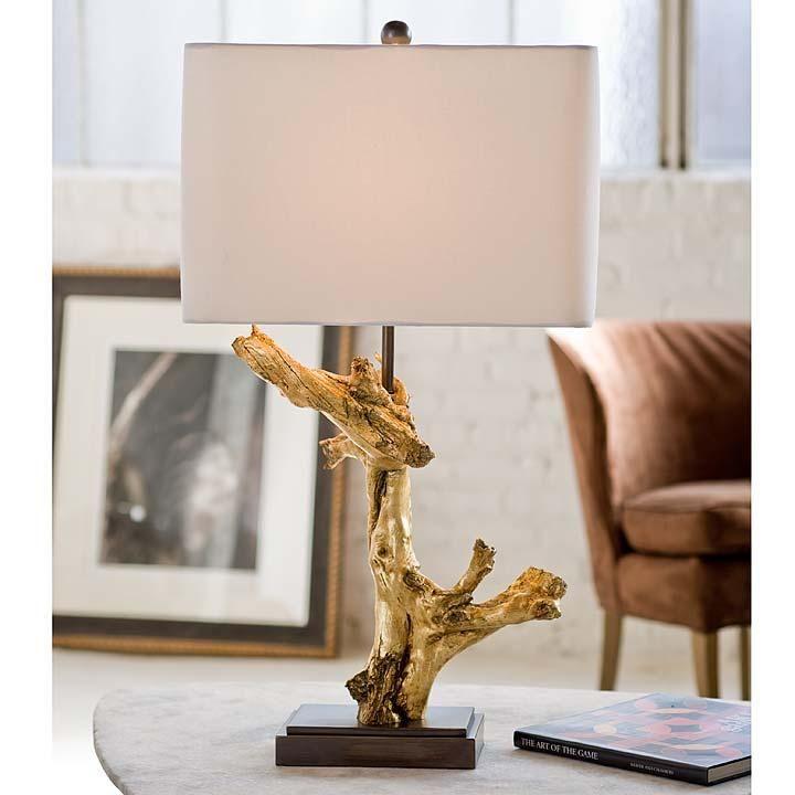 Gilded Driftwood Table Lamp Reginaa