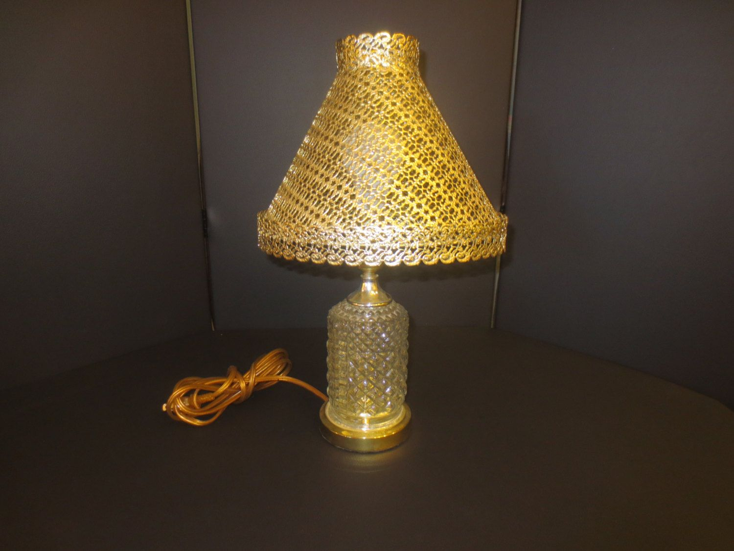 Vintage diamond cut glass table lamp by russellsretro on etsy mid vintage diamond cut glass table lamp by russellsretro on etsy mozeypictures Gallery