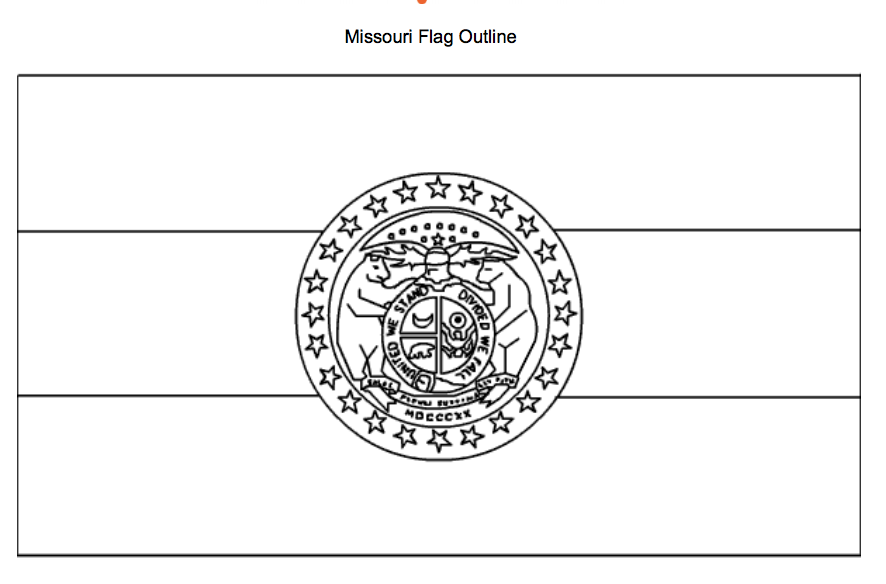 This Is A Beautiful Coloring Page Featuring The Missouri State Flag Missouri Flag Missouri State Flag State Symbols