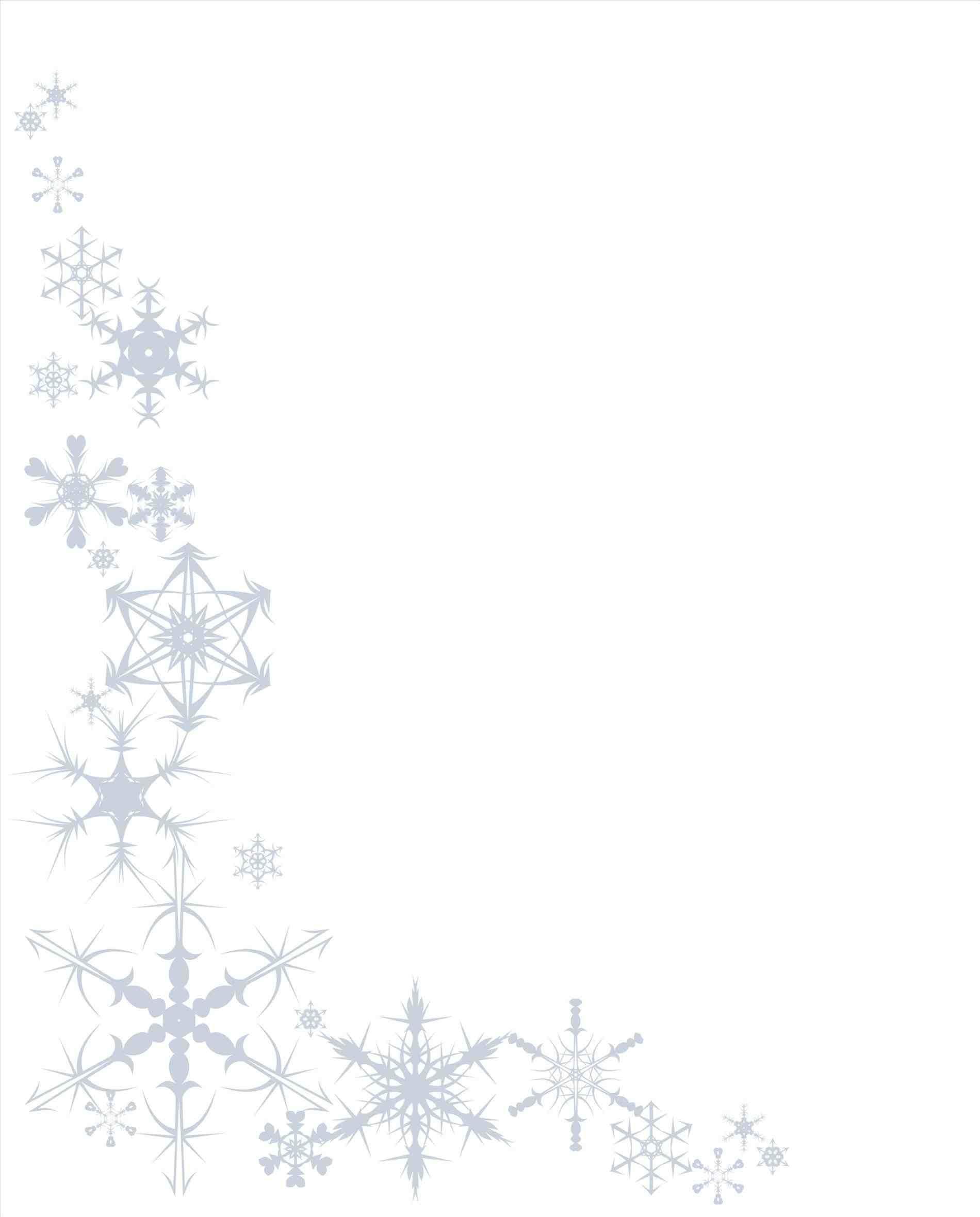 New Post Christmas Snow Border