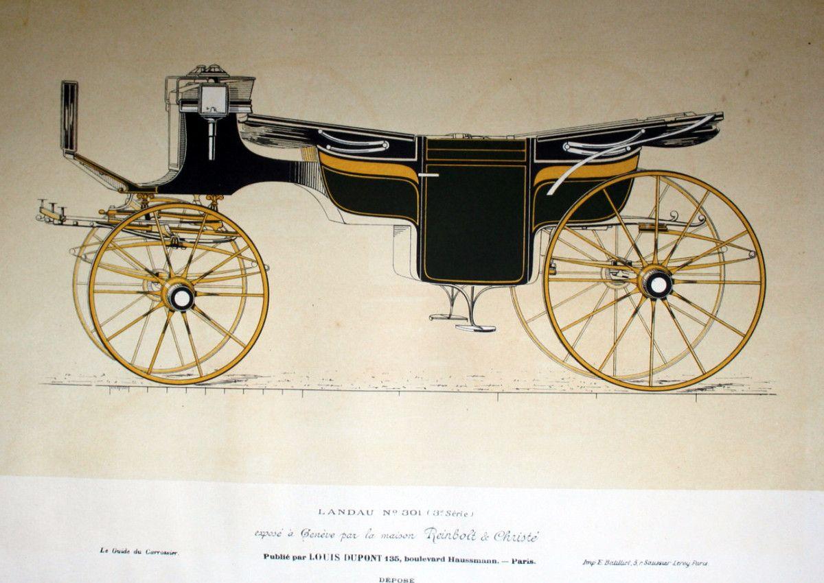 descriptifs et plans de landaus en 1896 landau mod le du guide du carrossier dat de 1896 dans. Black Bedroom Furniture Sets. Home Design Ideas