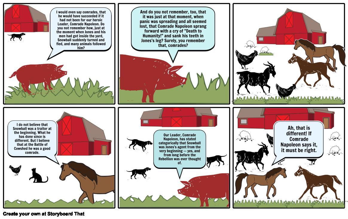 Animal Farm Comic Strip Cont Storyboard By Marianhervias Animal Farm Summary Farm Animals Animals