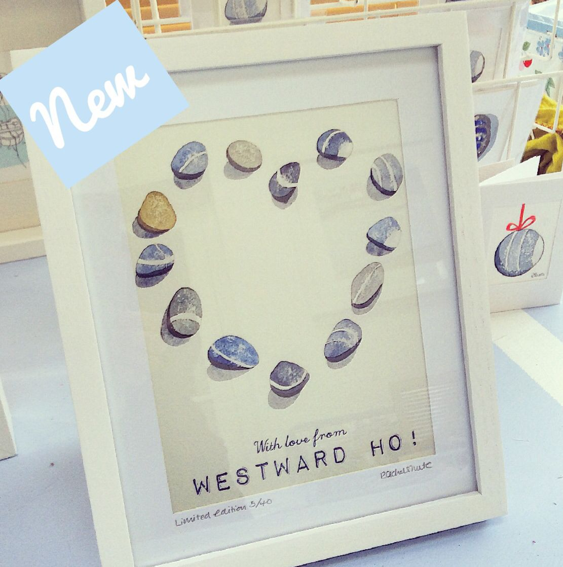 My new limited edition giclee print 'with love from Westward Ho!'  rachelshute3@gmail.com
