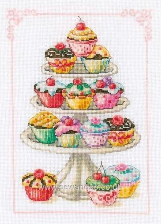 Cupcakes Cupcake Cross Stitch Cross Stitch Cross