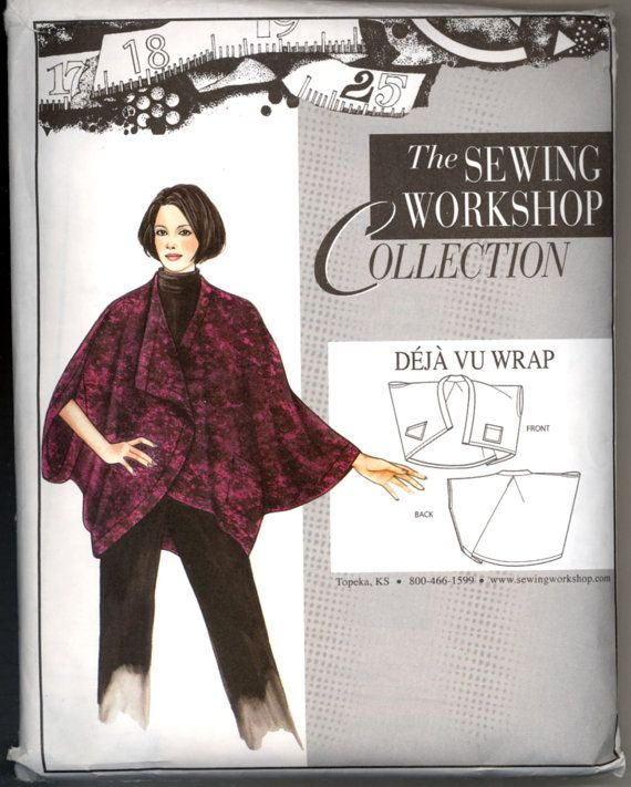 Dj Vu Wrap Jacket Sewing Workshop Collection Size S M L Sewing