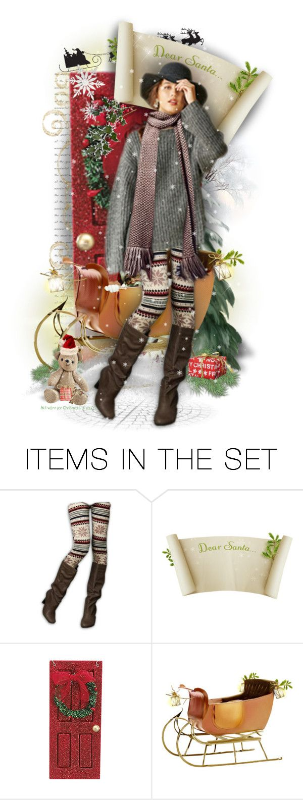 """Dear Santa . . ."" by rosie305 ❤ liked on Polyvore featuring art, artset and artdoll"