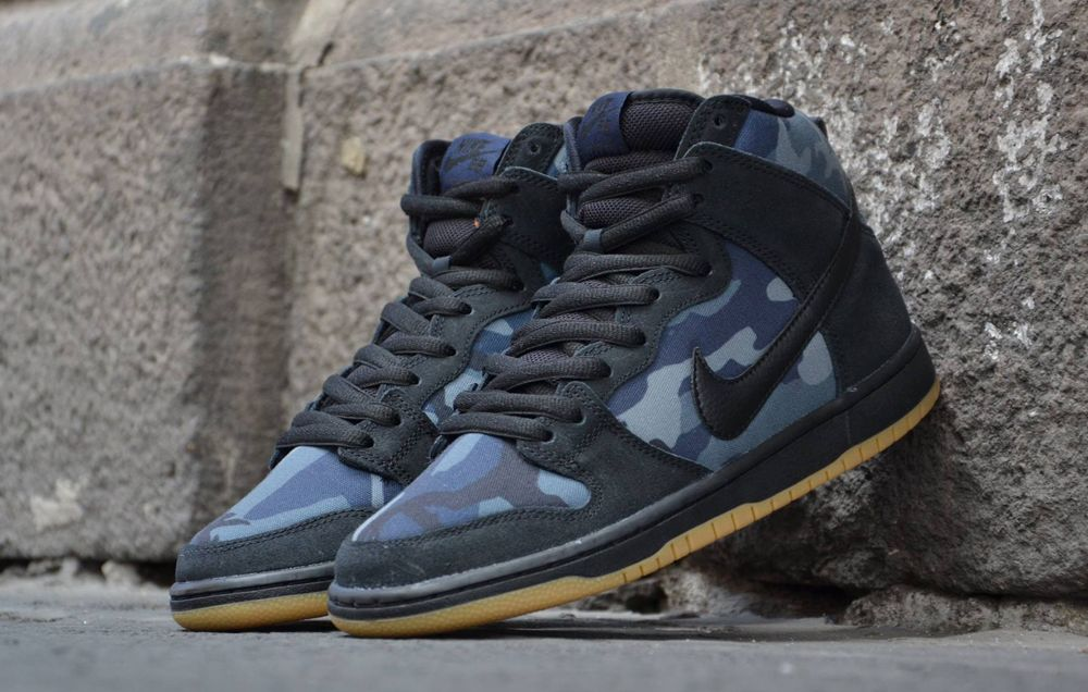 check out 92699 ac4e2 Nike SB Dunk High Camo Obsidian Gum  Sole Collector  SHOES  BOOTS  Nike  sb dunks, Nike SB, Nike
