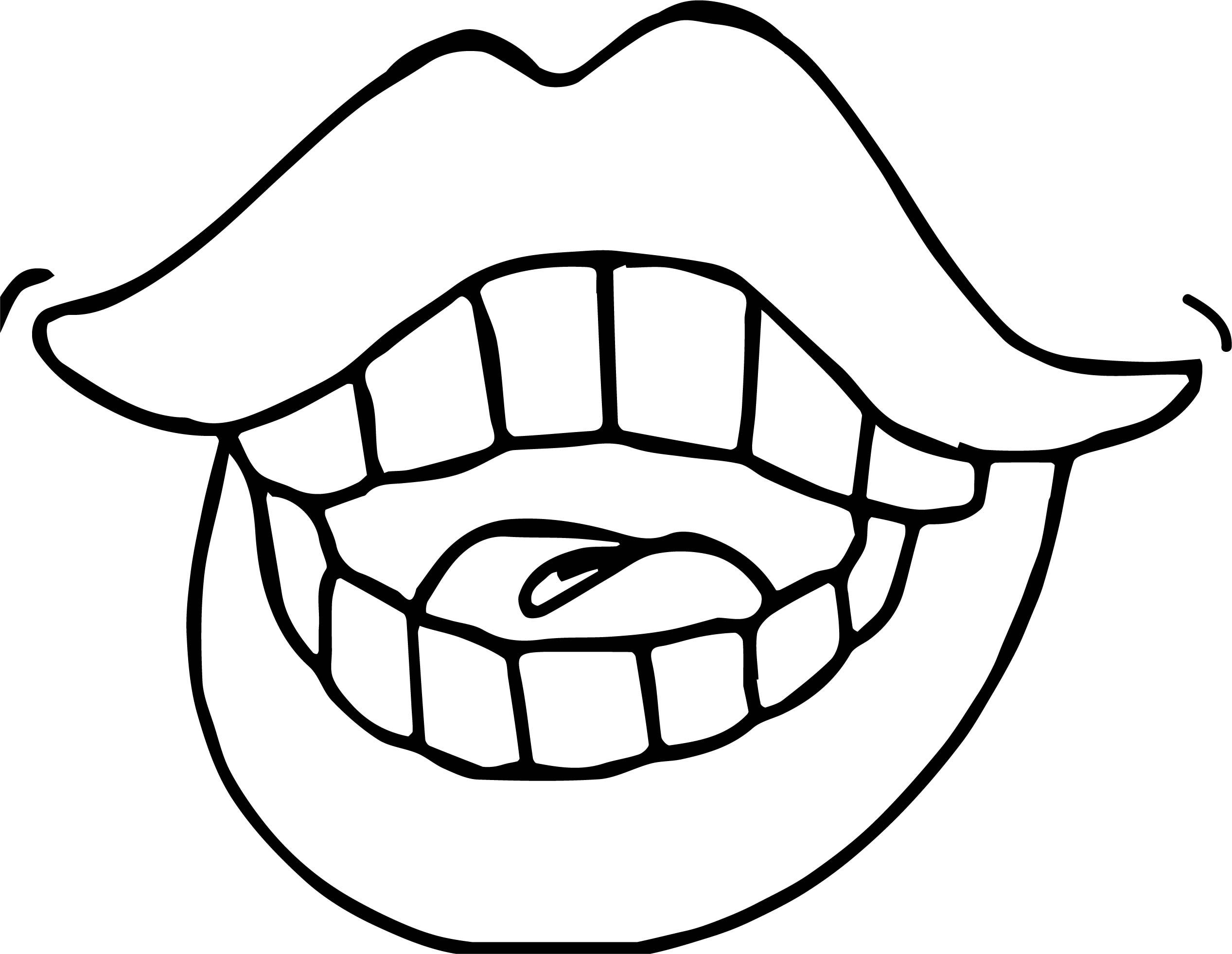 Awesome Dental Girl Lips Coloring Page