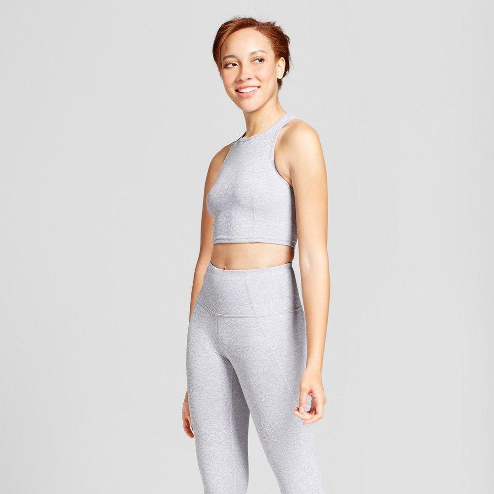 Women's Mini Stripe Long Line Bra Crop Top JoyLab