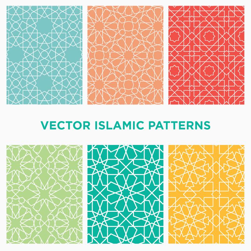 Download Six Seamless Vector Islamic And Arabic Geometric Patterns