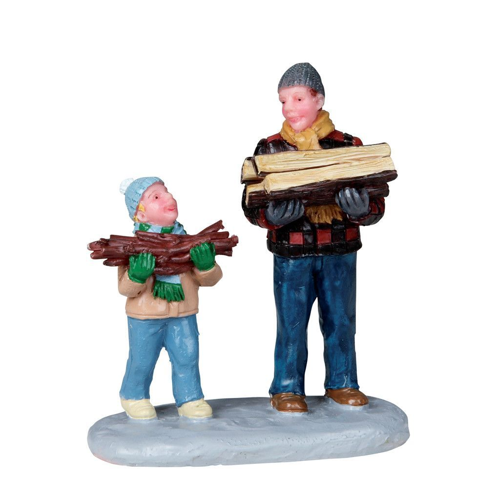 Lemax Gathering Firewood Figurine